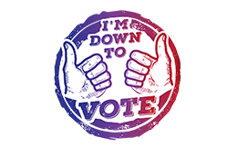 Charity 'I'M DOWN TO VOTE' picture